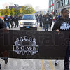 Tribune-Star/Jim Avelis<br /> Making some noise: The group Black Optimistic Men and Brothers was one of the first groups to march in this year's Indiana State University homecoming parade.