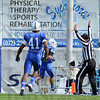 Return: Indiana State's #80 Tanner Riley bounces across the goal line to score on a 93 yard kick-off return during action against Missouri State Saturday at Memorial Stadium. ISU won the game 31-17.