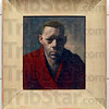 Tribune-Star/Joseph C. Garza<br /> Artist and curator: A self-portrait of John Rogers Cox is on display at the Swope Art Museum.
