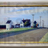 "Tribune-Star/Joseph C. Garza<br /> A glimpse of America: Edward Hopper's ""Route 6, Eastham"" is on display at the Swope Art Museum as part of the John Rogers Cox exhibit."
