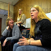 Tribune-Star/Jim Avelis<br /> Not overnight: Aja Hayne, right, talks about the need for patience when working through changes in her life. Listening are Dana Simons and Stacey Edwards.