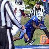 Touchdown: Indiana State wide receiver #7 Demory Lawshe crosses the goal line after catching a pass from Mike Perish during game action against Missouri State Saturday afternoon at Memorial Stadium.