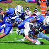Gotcha: Indiana State defender Aaron Archie dumps Missouri State quarterback Ashton glaser during first quarter action at Memorial Stadium Saturday afternoon.