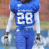 Tribune-Star/Jim Avelis<br /> On the spot: Indiana State University senior Johnny Towalid was in the right place, twice, in the Sycamores win at North Dakota State last Saturday.