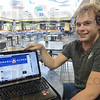 Tribune-Star/Jim Avelis<br /> Linked in: Indiana State University student Tommy Nicholas uses his Facebook page to get involved in politics.