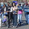 Tribune-Star/Jim Avelis<br /> On our way: A group of citizens heads across the Indiana State University campus to the Vigo County courthouse to take part in the early voting process.