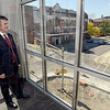 Tribune-Star/Joseph C. Garza<br /> The corner office: Todd Weber, vice-president and general manager of WTHI-TV, will enjoy this view from his office when the station's new building is opened.