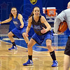 Tribune-Star/Joseph C. Garza<br /> Ready to compete: Indiana State University's Anna Munn prepares to react to the command of assistant coach Joey Wells with her teammates during team practice Monday at Hulman Center.