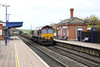 26 October 2012 :: Passing through Cholsey station is 66154 with the MOD from Marchwood to Didcot, train 6V38