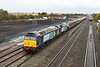 31 October 2012 :: 47501 with 47802 at South Moreton working 1Z87, boat train from Southampton to Glasgow Central