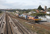 30 October 2012 :: RHTT 3S59 (Moreton on Lugg to Weston Super Mare) approaching Seven Tunnel Junction with 66168 and 66027