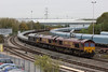 26 October 2012 :: Approaching Didcot is 6O26 from Hinksey to Eastleigh with locomotives 66176 / 66155 & 67006