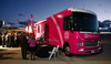 """The Pink Live Saver,"" is the name given to the University of Colorado Hospital's Mobile Mammography van.  The 12th Annual Men For The Cure dinner, hosted by the University of Colorado Hospital Foundation Board of Directors and benefiting the Diane O'Connor Thompson Breast Center at University of Colorado Hospital, held at the X Jet terminal, Centennial Airport, in Englewood, Colorado, on Tuesday, Oct. 16, 2012.<br /> Photo Steve Peterson"