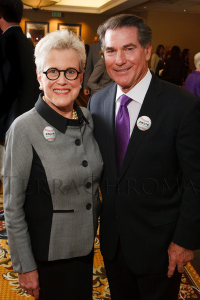 Kay Landen and Steve Garvey.  The 13th annual Memories Lost & Found Luncheon, hosted by AWARE and benefiting the Alzheimer's Association Colorado Chapter, at the Denver Marriott City Center in Denver, Colorado, on Wednesday, Oct. 17, 2012.<br /> Photo Steve Peterson