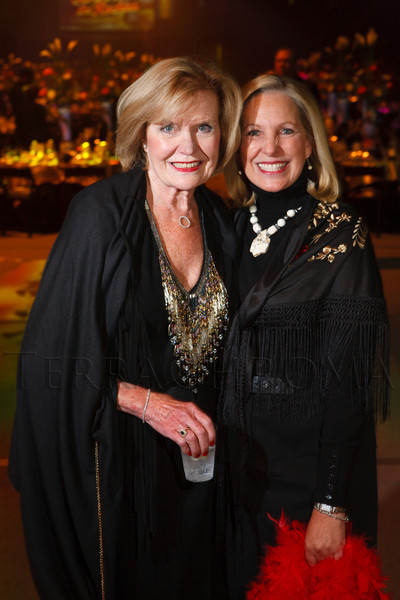 "Jean Galloway and Frances Owens.  The 19th annual Western Fantasy gala, themed ""Stars Over the Rockies, Legends of the West,"" a benefit for the Colorado branch of Volunteers of America, at the National Western Events Center in Denver, Colorado, on Saturday, Oct. 20, 2012.<br /> Photo Steve Peterson"