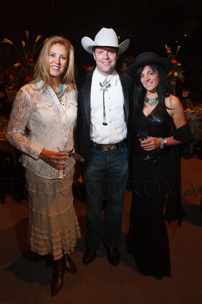 "Deirdre Toltz, Brett Dolan, and Allison Levy.  The 19th annual Western Fantasy gala, themed ""Stars Over the Rockies, Legends of the West,"" a benefit for the Colorado branch of Volunteers of America, at the National Western Events Center in Denver, Colorado, on Saturday, Oct. 20, 2012.<br /> Photo Steve Peterson"