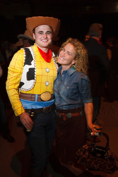 "Kane Kunz (nephew of Dianna Kunz) and Siobhan Zane (outfit from Cry Baby Ranch in Denver).  The 19th annual Western Fantasy gala, themed ""Stars Over the Rockies, Legends of the West,"" a benefit for the Colorado branch of Volunteers of America, at the National Western Events Center in Denver, Colorado, on Saturday, Oct. 20, 2012.<br /> Photo Steve Peterson"