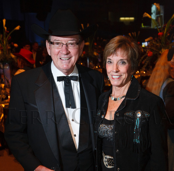 "Walter Imhoff and Elizabeth Hogan.  The 19th annual Western Fantasy gala, themed ""Stars Over the Rockies, Legends of the West,"" a benefit for the Colorado branch of Volunteers of America, at the National Western Events Center in Denver, Colorado, on Saturday, Oct. 20, 2012.<br /> Photo Steve Peterson"