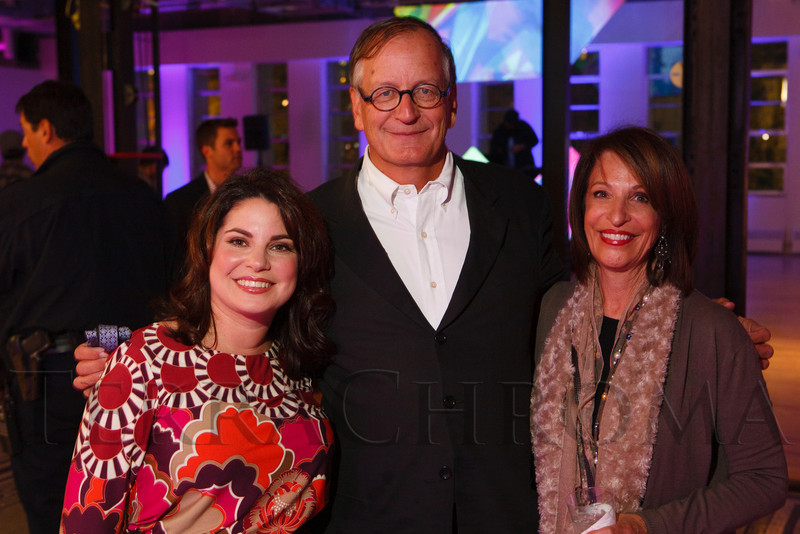 "Lindy Eichenbaum Lent, Dennis Humphries, and Elaine Asarch.  LIGHT gala, a ""Grand Re-opening Party"" for the McNichols Building, hosted by Civic Center Conservancy and Arts & Venues Denver, at McNichols Civic Center Building near Denver, Colorado, on Wednesday, Oct. 24, 2012.<br /> Photo Steve Peterson"