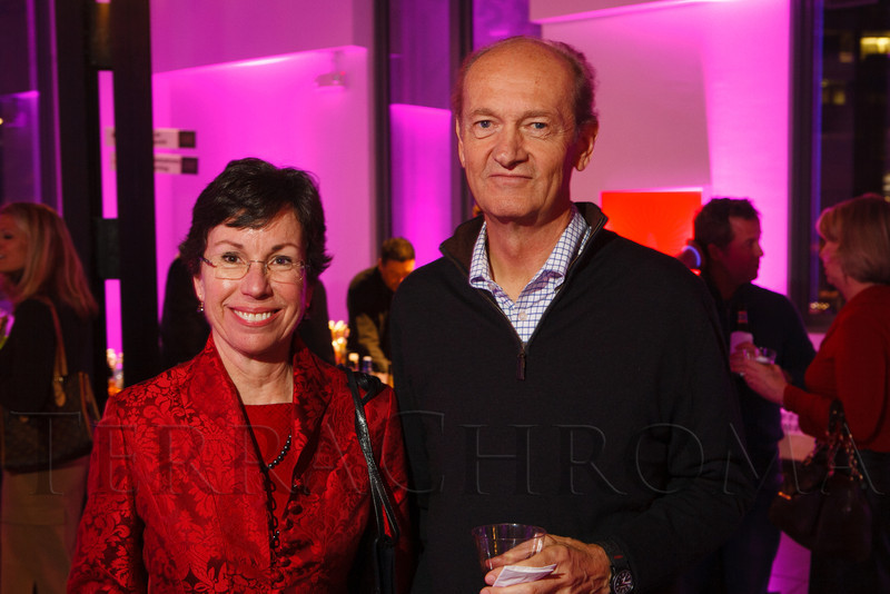 "Ruth Falkenberg and Larry Nelson.  LIGHT gala, a ""Grand Re-opening Party"" for the McNichols Building, hosted by Civic Center Conservancy and Arts & Venues Denver, at McNichols Civic Center Building in Denver, Colorado, on Wednesday, Oct. 24, 2012.<br /> Photo Steve Peterson"