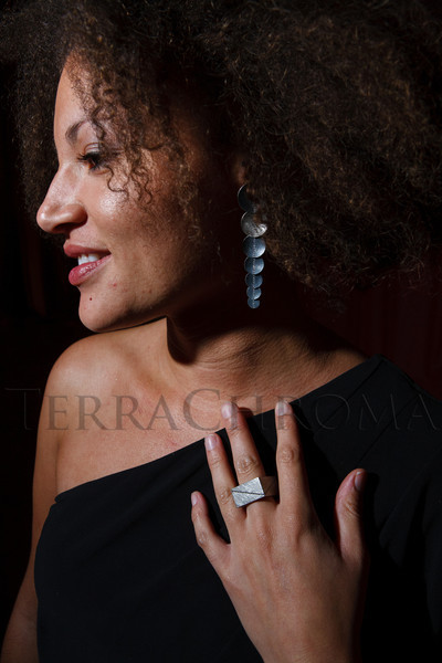Naomi Brown (wearing Todd Reed earrings and ring).  The Museum of Contemporary Art Denver 2012 Luminocity Gala, benefiting MCA, at 3600 Wynkoop Street in Denver, Colorado, on Thursday, Oct. 25, 2012.<br /> Photo Steve Peterson