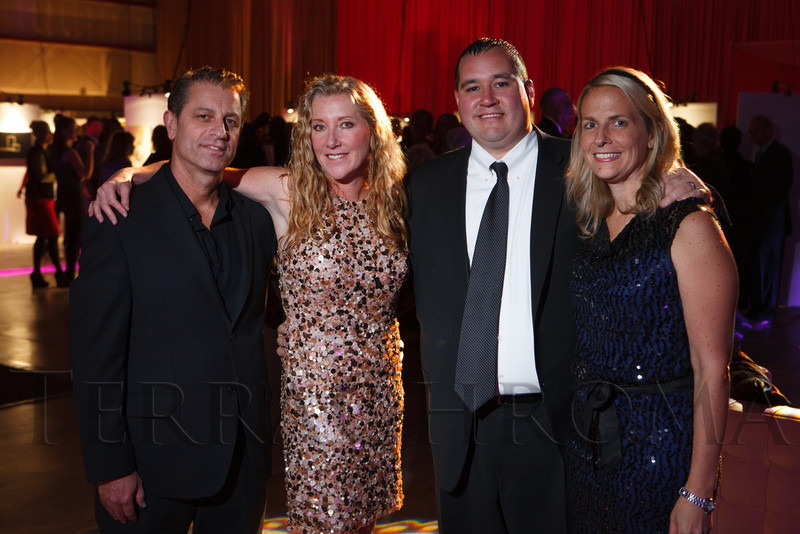 Vincent and Barrie Ciulla with Bryan and Jill Sulser.  The Museum of Contemporary Art Denver 2012 Luminocity Gala, benefiting MCA, at 3600 Wynkoop Street in Denver, Colorado, on Thursday, Oct. 25, 2012.<br /> Photo Steve Peterson