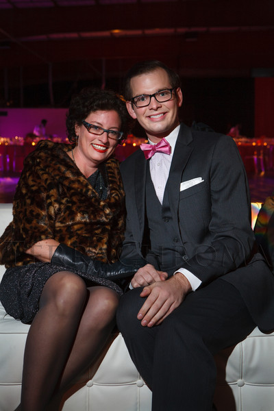 Karen Gerwitz (Calvin Klein coat, Adrienne Vittadini dress) and Michael DeJager.  The Museum of Contemporary Art Denver 2012 Luminocity Gala, benefiting MCA, at 3600 Wynkoop Street in Denver, Colorado, on Thursday, Oct. 25, 2012.<br /> Photo Steve Peterson