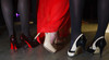 Heather Hanna (Christian Louboutin), Melissa Lyon (Steve Madden), and Rachelle Bunker (Nine West).  The Museum of Contemporary Art Denver 2012 Luminocity Gala, benefiting MCA, at 3600 Wynkoop Street in Denver, Colorado, on Thursday, Oct. 25, 2012.<br /> Photo Steve Peterson