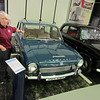 Chris with a Triumph 1300 her first car