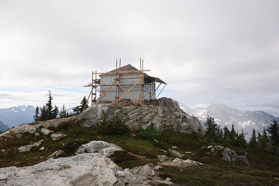 The gentle Sourdough summit at 8:15am. The lookout is under renovations, which is a little disappointing as I know it will mean that the interior will not really be in a photographable state.