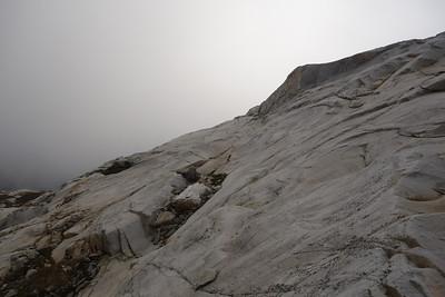 Beautiful stone under fog.