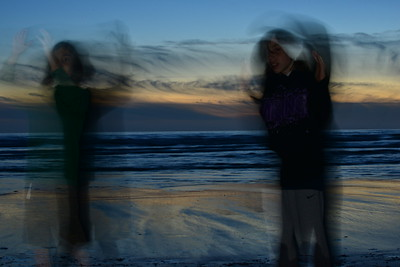 Isaac and Aiden tornadoes.  Rotating during long shutter speeds.
