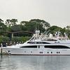 Panama Causeway - yacht in port