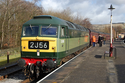 47402 waits to depart from Rawtenstall with the 1245 to Heywood (18/02/2012)