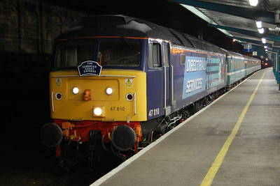 The next morning 47810 is pictured again at Carlisle with 2T20 0615 to Barrow-in-Furness. (03/02/2012)