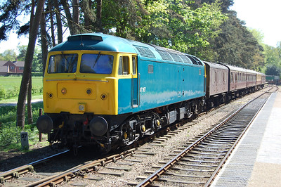 Having run round its train, 47367 waits to return from Holt with 2C33 1437 to Sheringham (26/05/2012)