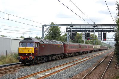 47804 brings up the rear of 5Z36 as it nears Cardonald station. The train was unusally routed via Glasgow Central (where it reversed) due to engineering work on the 'Burma Road' (02/09/2012)