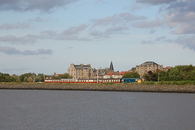 With the Forth estuary in the foreground, 26038 weaves its way out of Bo'ness with the 1810 departure for Manuel (02/09/2012)