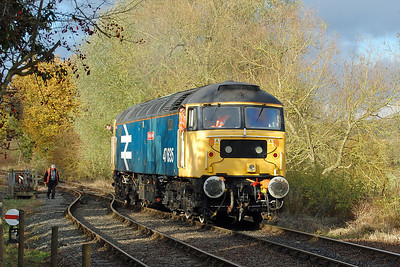 'Jimmy Milne' catches the afternoon sunlight as it backs onto the 1450 to Shackerstone at Shenton (10/11/2012)