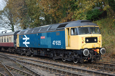 'Jimmy MIlne' awaits departure with the 1210 from Shackerstone to Sheton (10/11/2012)