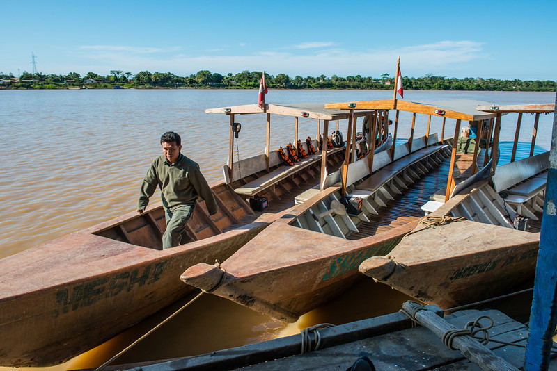 Closer view of our boats that took us all over the Amazon rainforest