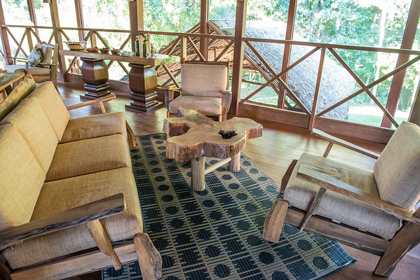 Part of the sitting area upstairs in the Hacienda