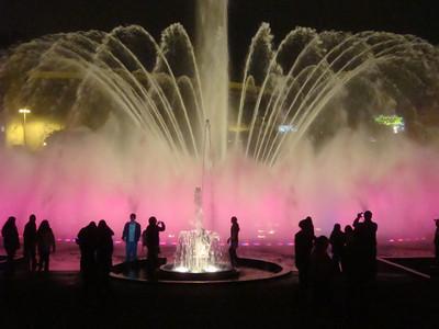 Fountain Park main fountain pink close-up