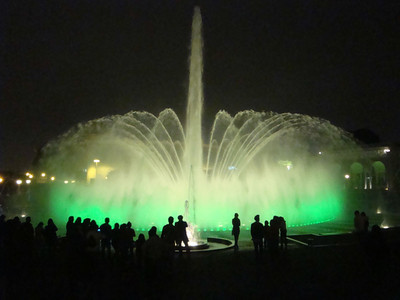 Fountain Park main fountain green