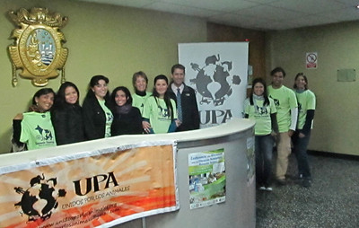 The next day we met the Faculty at the Universidad Nacional Mayor de San Marcos vet school in Lima, and provided another presentation. That evening was the start of the main Humane Education & Animal Welfare Conference held at the vet school, organised by all of these wonderful people and more.