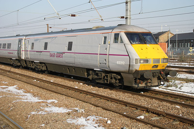 82212 at 1201 slows for a signal heading to Kings X
