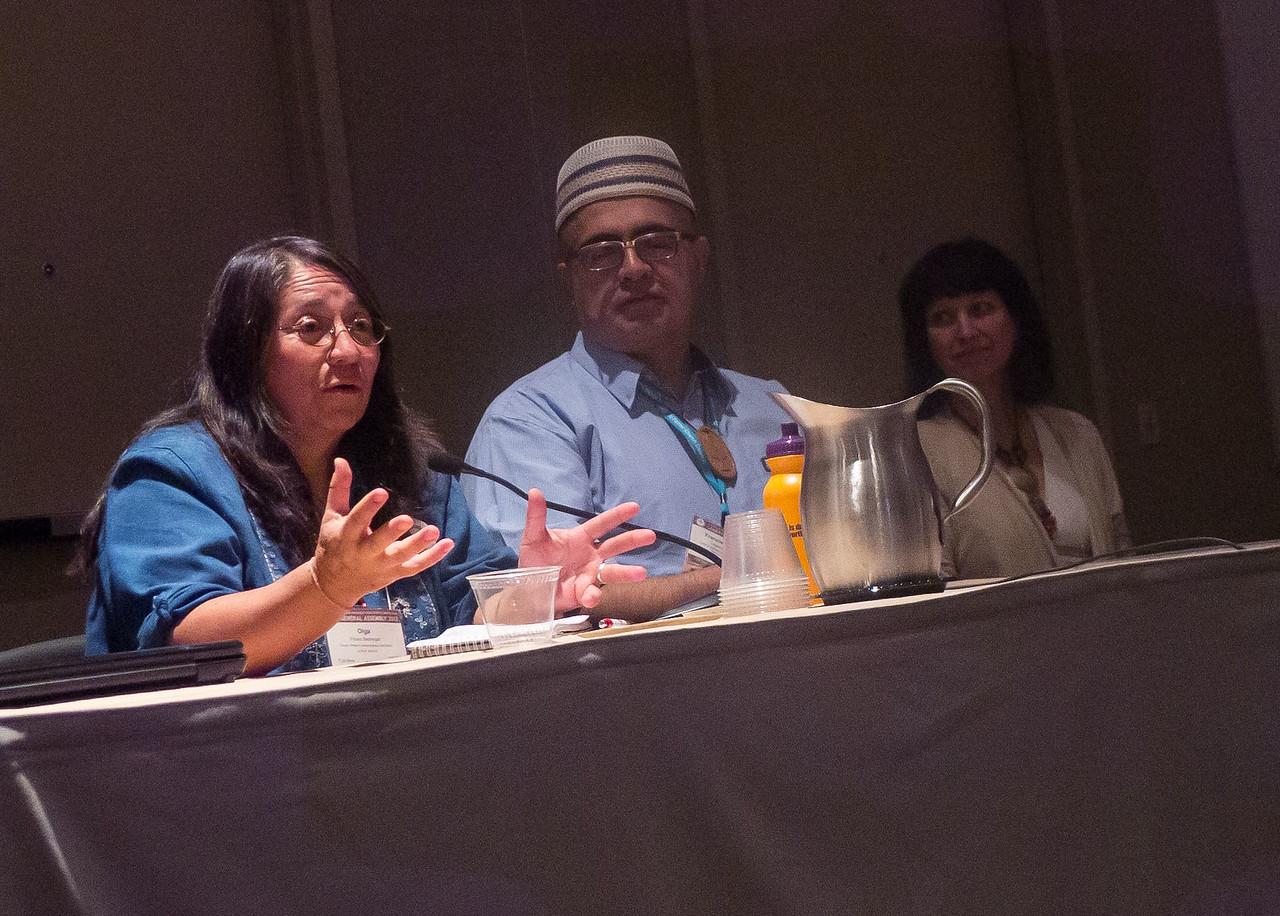 Speakers Olga Flores (Bolivia) and Francisco Javier Lagunes Gaitan (Mexico)