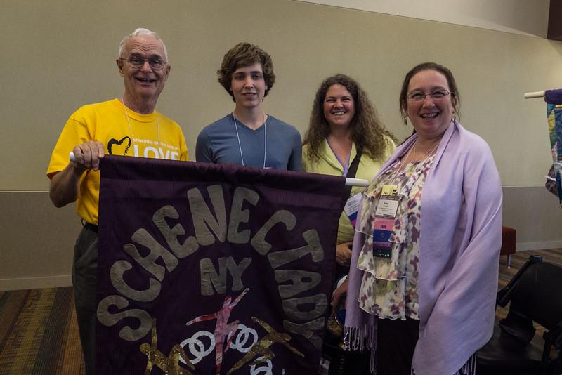 Don Porter, Calvin Temoshok, Melissa Mackinnon, Kathy McGowan - FUSS attendees (plus Rev. Priscilla Richter and Lois Porter)