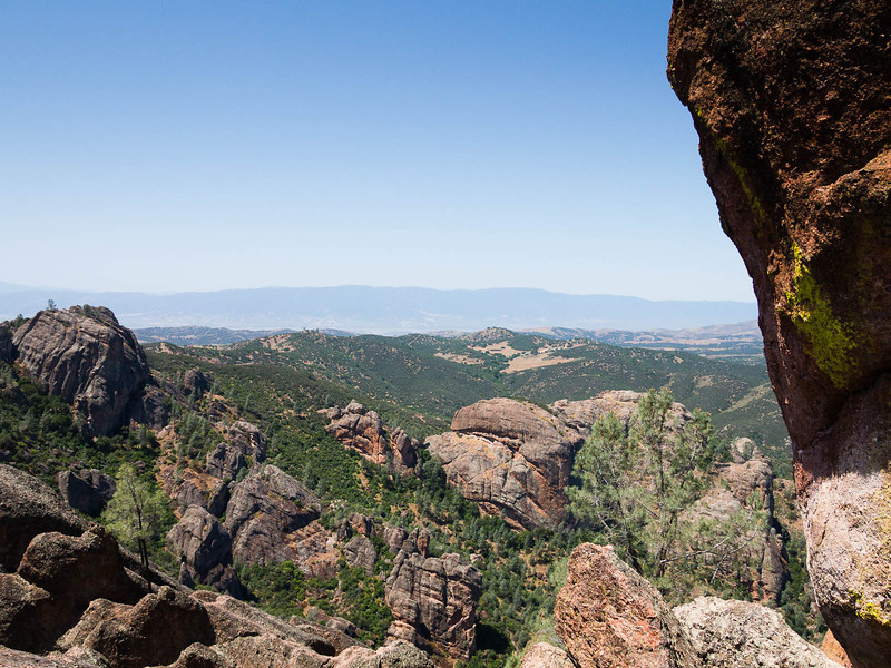 Pinnacles and west