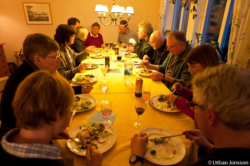 Middag efter väl utfört värv.